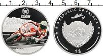 Изображение Монеты Палау 1 доллар 2009 Посеребрение Proof Мотогонки, Дукати, Т
