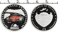 Изображение Монеты Палау 2 доллара 2007 Серебро Proof 60 лет Феррари, 126
