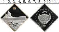 Изображение Монеты Палау 10 долларов 2009 Серебро Proof `Линкор ``Принц Уэль