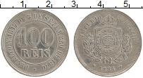 Изображение Монеты Бразилия 100 рейс 1884 Медно-никель XF