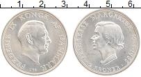 Изображение Монеты Дания 2 кроны 1958 Серебро UNC- 18 лет принцессе Мар