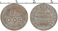 Изображение Монеты Венесуэла 0,05 боливар 1939 Латунь XF- Лепрозорий, остров П