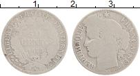 Изображение Монеты Франция 50 сантим 1873 Серебро VF