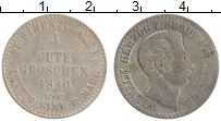 Изображение Монеты Брауншвайг-Люнебург 4 гроша 1840 Серебро XF- Вильгельм
