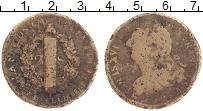 Изображение Монеты Франция 2 соля 1792 Медь VF Людовик XVI