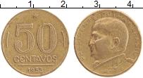 Изображение Монеты Бразилия 50 сентаво 1953 Латунь XF