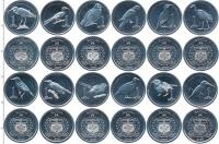 Изображение Наборы монет Самоа Птицы 2020 Алюминий UNC В наборе 12 монет но
