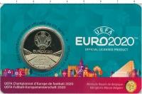 Изображение Подарочные монеты Бельгия 2 1/2 евро 2021 Латунь UNC Чемпионат Европы по