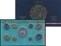 Изображение Подарочные монеты Франция Набор монет 1977 года 1977  UNC