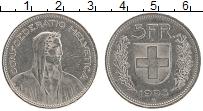 Изображение Монеты Швейцария 5 франков 1995 Медно-никель XF