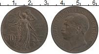 Изображение Монеты Италия 10 чентезимо 1911 Бронза XF 50 лет Объединения И