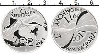 Изображение Монеты Чехия 200 крон 2011 Серебро Proof 100 лет первого поле