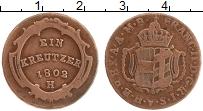 Продать Монеты Бургау 1 крейцер 1802 Медь