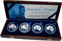 Изображение Подарочные монеты Уганда Первое плавание вокруг Австралии Мэтью Флиндерса 2002 Серебро Proof-