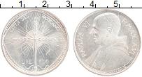 Изображение Монеты Ватикан 500 лир 1968 Серебро UNC Павел VI. ФАО