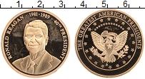 Изображение Монеты США Жетон 0 Латунь Proof- 40-й президент США Р