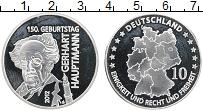 Изображение Монеты Германия Жетон 2012 Посеребрение Proof- Герхарт Хауптманн