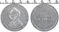 Изображение Монеты ФРГ Жетон 0 Алюминий XF 150 лет Вернер Симен