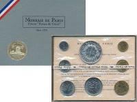 Изображение Подарочные монеты Франция Набор 1970 года 1970  UNC