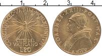 Изображение Монеты Ватикан 20 лир 1962 Латунь UNC- Иоанн XXIII. Второй