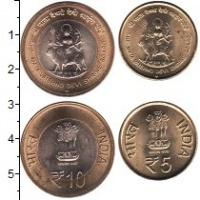 Изображение Наборы монет Индия Индия 2012 2012  UNC- В наборе 2 монеты но