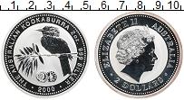 Изображение Монеты Австралия 2 доллара 2000 Серебро Proof Кукабара.Елизавета I