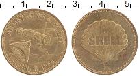 Изображение Монеты ФРГ Жетон 0 Латунь XF Шелл.Армстронг