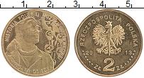 Изображение Монеты Польша 2 злотых 2013 Латунь UNC- Агнешка Осецкая