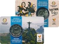 Изображение Подарочные монеты Бельгия 2 евро 2016 Биметалл UNC