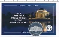 Изображение Подарочные монеты США 5 центов 2020 Медно-никель Proof Минтмарка W- Вест-По