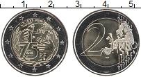 Изображение Мелочь Франция 2 евро 2021 Биметалл UNC 75 лет ЮНИСЕФ