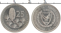 Изображение Монеты Кипр 25 милс 1980 Медно-никель UNC-