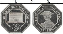 Изображение Монеты Сьерра-Леоне 50 леоне 1996 Медно-никель UNC Генри Лайтфут-Бостон