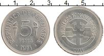 Изображение Монеты Колумбия 5 песо 1971 Медно-никель UNC- VI Панамериканские и