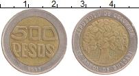 Изображение Монеты Колумбия 500 песо 1997 Биметалл XF