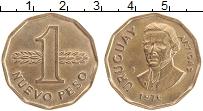 Изображение Монеты Уругвай 1 песо 1976 Латунь XF Хосе Артигас