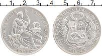 Изображение Монеты Перу 1 соль 1934 Серебро UNC-