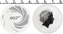 Изображение Монеты Тувалу 1 доллар 2020 Серебро UNC Джеймс Бонд