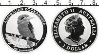 Изображение Монеты Австралия 1 доллар 2021 Серебро Proof Кукабара