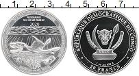 Изображение Монеты Конго 20 франков 2020 Серебро Proof Динозавр Плезиозавр