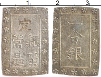 Изображение Монеты Япония 1 бу 0 Серебро XF XIX век