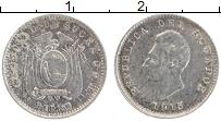 Изображение Монеты Эквадор 1/2 сукре 1915 Серебро XF Антонио Хосе Сукре