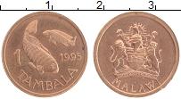Изображение Монеты Малави 1 тамбала 1995 Бронза UNC-