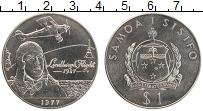 Изображение Монеты Самоа 1 доллар 1977 Медно-никель UNC- 50 лет первого полёт