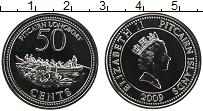 Изображение Монеты Острова Питкэрн 50 центов 2009 Медно-никель UNC Елизавета II. Лодка