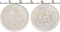 Изображение Монеты Мексика 50 сентаво 1944 Серебро XF Герб