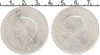 Изображение Монеты Нидерланды 10 гульденов 1970 Серебро XF 25 лет Освобождения