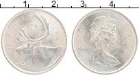 Изображение Монеты Канада 25 центов 1966 Серебро XF Елизавета II