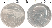 Изображение Монеты Бразилия 5000 рейс 1936 Серебро XF Сантос Дюмон