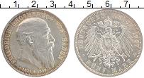 Изображение Монеты Баден 5 марок 1907 Серебро XF Фридрих